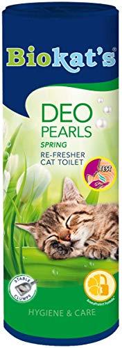 Biokat's Deo Pearls, Duftperlen für extra langes Frischegefühl in der Katzentoilette, Verstärken Klumpenbildung der Katzenstreu, 6 Dosen (6 x 700 g) - Kräuter-deo-kräuter-duft