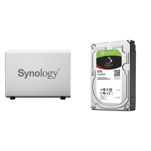 Price comparison product image Synology DS115J 6TB (1x 6TB Seagate IronWolf) 1-bay Desktop Network Attached Storage