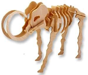 puzzle en bois à trois dimensions - petit mammouth
