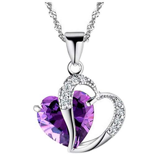 Dorical Damen 925 Sterling Silber 3A Zirkonia Halskette exquisite Geschenk/Frauen Halskette Beliebte Schmuck dchen Geschenk Promo(A)
