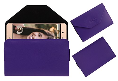 Acm Premium Flip Flap Pouch Case for Micromax Vdeo1 Mobile Leather Cover Purple  available at amazon for Rs.179