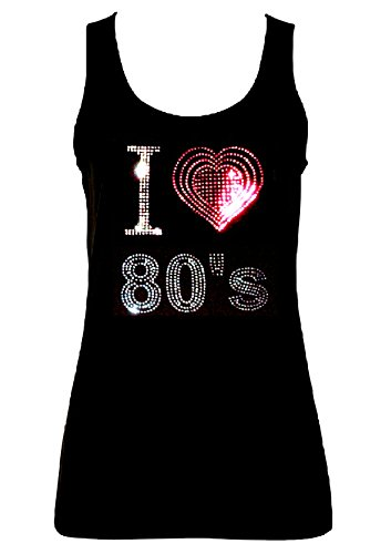 I Loveheart 80s Crystal Rhinestone Vest. Sizes 8 to 16