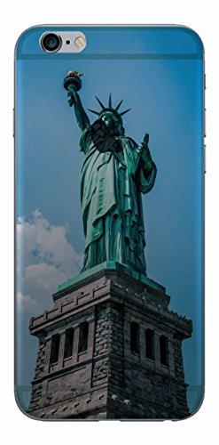 MPPK-Hamburg ® Apple iPhone ® 6 / 6s 4,7 Zoll Schutz Hülle - Case in wunderschönem Design – Stabiles / transparentes PC - Verschneites Gebirge Freiheitsstatue