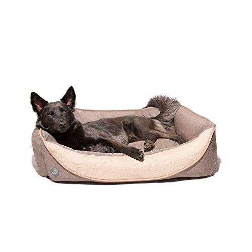Pets&Partner® Hundekissen | Hundebett | Hundekorb aus Leinenmaterial, waschbar, Hunde Körbchen für kleine, mittlere bis große Hunde 2