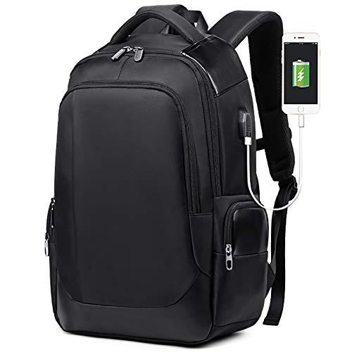 KHDJH Rucksack Laptop Männer Rucksack Notebook Business Travel Rucksäcke Student Wasserdicht Herren Taschen USB Aufladen Smart Bagpack Q blau