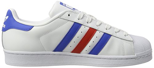adidas Superstar Foundation Schuhe 6,5 white/blue/red - 6