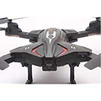CYNDIE Foldable RC Quadcopter Drone Remote Controller LED 4 Channels Altitude Hold with WIFI Camera Black - Compare prices on radiocontrollers.eu