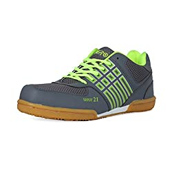 Feroc Non Marking Badminton Gray Shoes ( FREE Delivery) (9, GRAY GREEN)