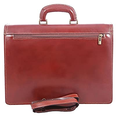CTM Men Handbags for Business, Briefcase, 41x31x18cm, 100% Genuine Leather Made in Italy - mens-carry-all-organiser-bags