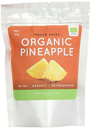 Natur Boutique Organic Freeze Dried Pineapple 20 g (Pack of 5) Test