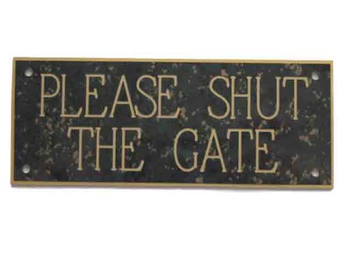 acryl-please-shut-the-gate-127-x-51-cm-sign-in-anthrazit-mit-gold-fleck