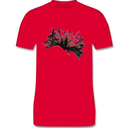 Blumen & Pflanzen - Orchidee Timelapse - Herren Premium T-Shirt Rot