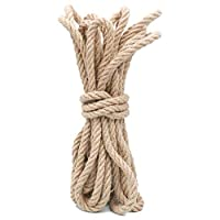 jijAcraft Rope 12 MM,Hemp Rope,10 M/32 Feet Thick Rope, Thick Jute String, Strong Craft Twine for Gardening Rope