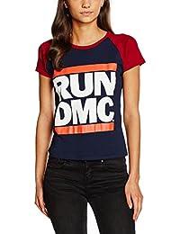 caba8bc006c Rockoff Trade Women s Run DMC Logo Raglan T-Shirt