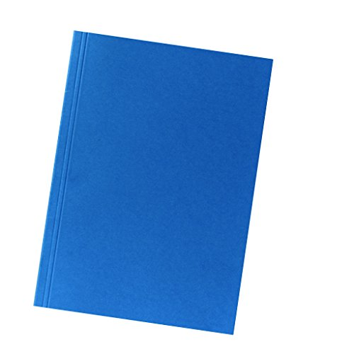 Falken Aktendeckel aus Recycling-Karton für DIN A4 blau 100er Pack Blauer Engel Hefter ideal für das Büro und Schule und die mobile Organisation