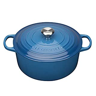 LE CREUSET Evolution Cocotte con Tapa, Redonda, Todas Las Fuentes de Calor Incl. inducción, 8,4 l, Hierro Fundido, Azul Marseille, 30 cm (B00YUYYMAQ) | Amazon price tracker / tracking, Amazon price history charts, Amazon price watches, Amazon price drop alerts