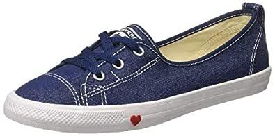 Converse Women's Textile Indigo/White/Enamel Red Sneakers-6 UK/India (39 EU) (8907788166299)