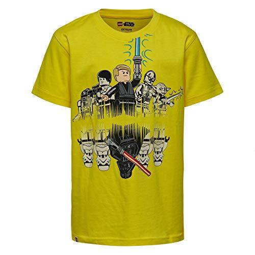LEGO Jungen T-Shirt Lego Boy Star Wars CM-50217-T-SHIRT, Gelb (Yellow 212), Herstellergröße: 134 - Wars Star Kids Für