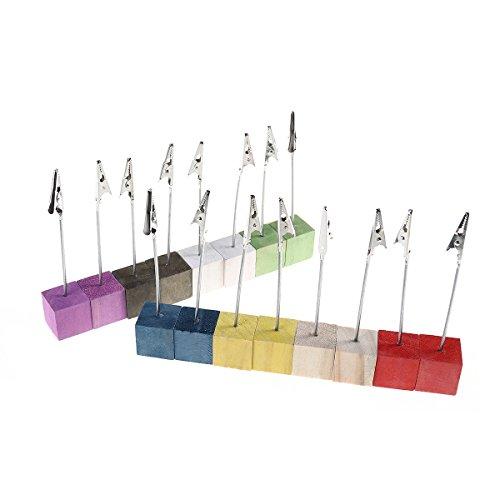 SUPVOX Tischkartenhalter mit Ständer Tischnummer Halter Foto Memo Menü Clip Hochzeit Tisch Deko 16 Stück (Zufällige Farbe) (Foto-halter Mit Clips)
