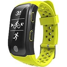 EZS _ store S908deporte reloj inteligente IP68impermeable pulsómetro podómetro GPS Smart pulsera, para Compatible with IOS 8 & Android 4.3 or above smartphones, color verde manzana