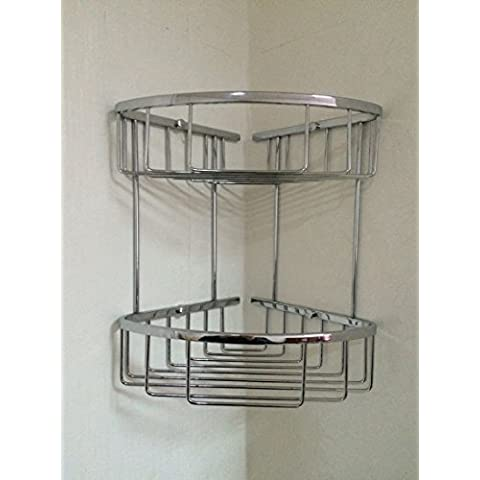 YUPD@Cesto in acciaio inox con doppio angolo vetro mensola bagno angolo rack 200 factory outlet un sacco di denaro , chrome plated