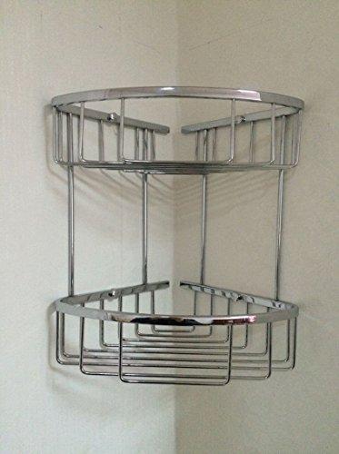 PinWei@ Mensole bagno bagno angolo&Bagno ripiani in vetro&Mensole bagno in bronzo&Nichel spazzolato bagno ripiani&Mensole bagno (Bronzo Bagno Piastrelle)