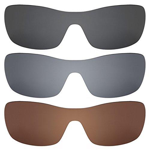 Revant Ersatzlinsen für Oakley Antix Polarisiert 3 Paar Kombipack K016