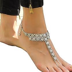Ularmo Münze Medaillon Damen Retro Style Übertreibung Fäustlinge Fußkette