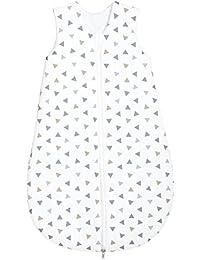 Odenwälder Basic Jersey-Schlafsack Sommer Dreiecke silber