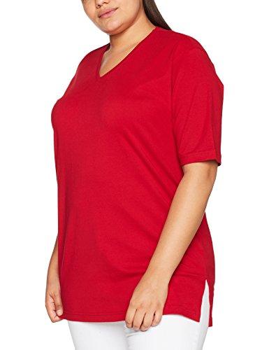 Ulla Popken Große Größen Damen T-Shirt, V-Ausschnitt, Rot (Rot 51), 58/60