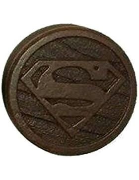 Gekko Kirschbaum Holz Ohr Plug Piercing/Tunnel Expander Superman Logo geschnitzt - 26 mm