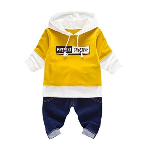 Jungen Sportswear Kostüm Für (Kleidung Set Kolylong® 1 Set ( 0-24 Monate) Baby Jungen Mädchen Herbst gedruckt Anzug (Tops + Hose) T-shirt Sweatshirt Outfits Kleiderset (70CM (0-6 Monate),)