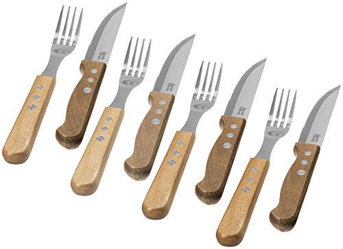 Jamie Oliver 8-Teiliges Besteckset Jumbo 4 Steakmesser und 4 Gabeln