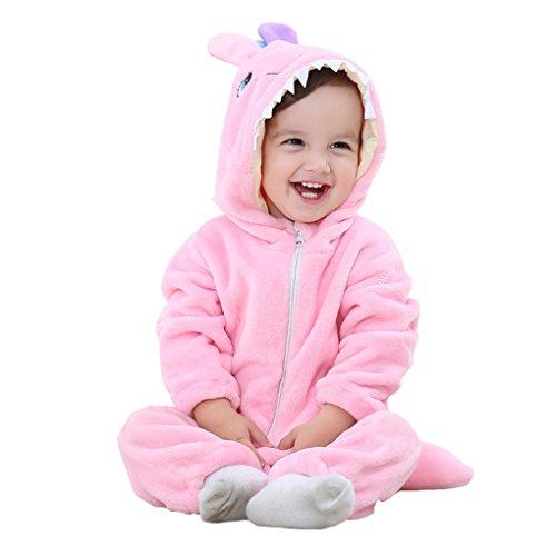 DREAMOWL Junge Unisex Cosplay Tierspielanzug Baby Body Nachtwäsche Kleinkind-Winter-Outfits 18-24 monate rosa - Rosa Kleinkind Monster Kostüm