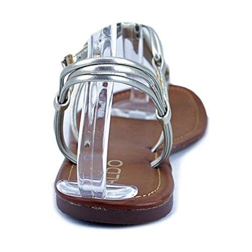 Aldo Kaprisha Offener Spitze Synthetik Slingback Sandale Tan/Gold