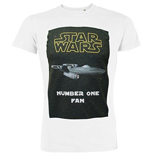 Herren Star Wars Star Trek Nummer eins Fan aussenseiter Parodie T-Shirt (XXL) (Nummer Wars Shirt Star Eins Fan)