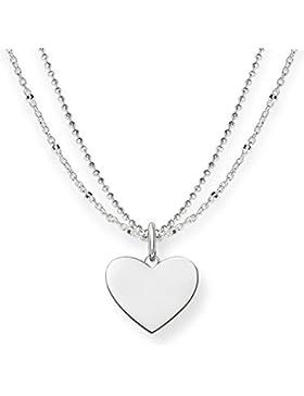 Thomas Sabo Damen-Kette Love Bridge Herz 925 Sterling Silber Länge von 40 bis 45 cm LBKE0004-001-12-L45v