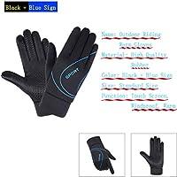 Tmdfight Full Finger Tela Elástica Pantalla Táctil Dedo Silicona Palm Antideslizante Guantes para Montar Al Aire Libre Calientes,2