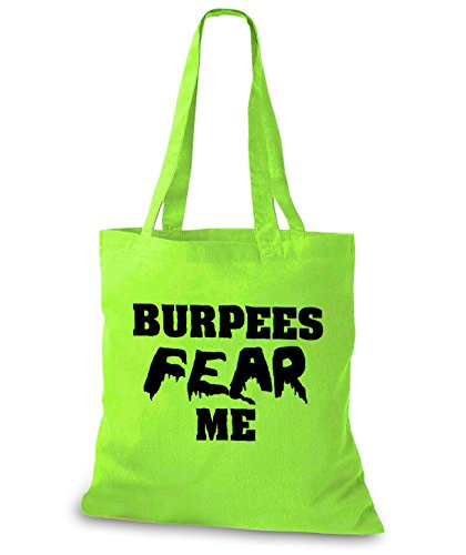 StyloBags Jutebeutel / Tasche Burpess Fear Me Lime