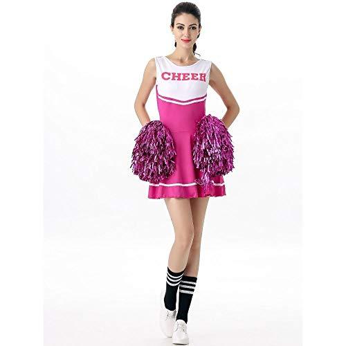 e Cheerleader Uniform Dame Zeigen Rock Cheerleader Kostüm ()