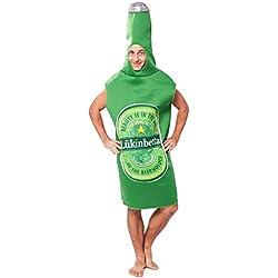 EraSpooky Traje Adulto de la Botella de Cerveza del Verde de Halloween