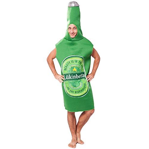 EraSpooky Unisex Flaschenkostüm Overall Flasche Anzug Kostüm (Kostüm Bierflasche Halloween)