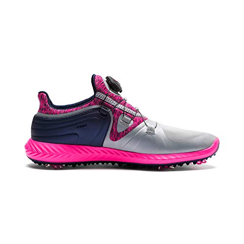PUMA Ignite Blaze Sport Disc - Scarpe da Golf da Donna, Grigio (Quarry-Knockout Pink), 38.5 EU