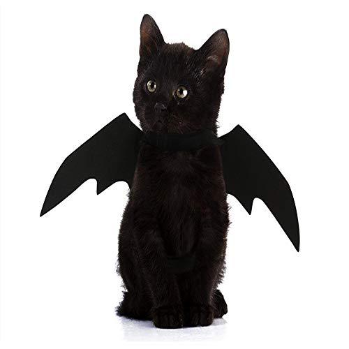 yangxiurongzuikeai YANGXIURONG Halloween Dekoration Requisiten Haustier Hund/Katze Cosplay Vampir Fledermaus Kostüm Party Flügel Kürbis Glocke (1) (Vampir-kleidung Plus Größe)