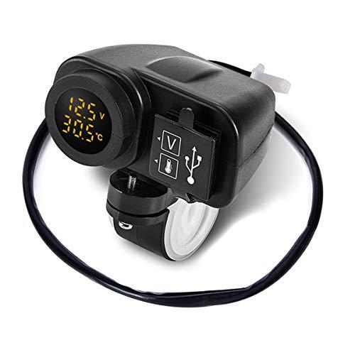 Cargador rápido USB Leyeet con voltímetro para vehículos por sólo 10,49€ usando el #código: GME63P9H