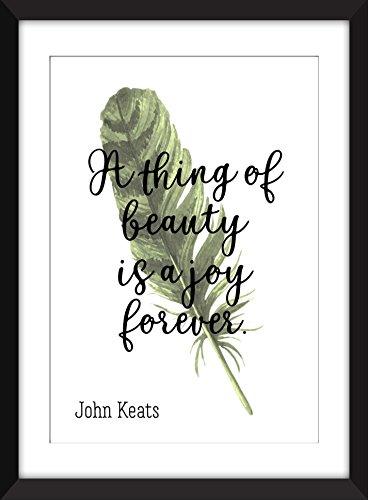 John Keats - A Thing of Beauty is a Joy Forever - Unframed Print/Ungerahmter Druck