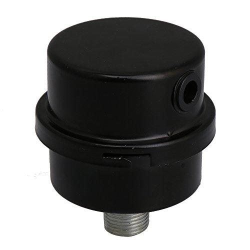 BQLZR 3/8PT 16mm Luft Kompressor Filter Druckerzeuger Schwarz Metall Auspufftopf (Kompressor-luft-filter)
