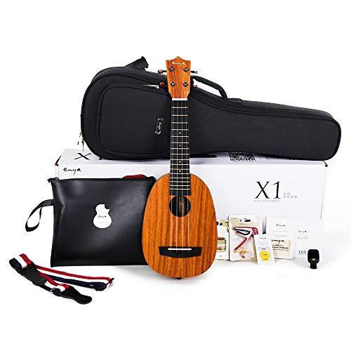Soprano Ananas Ukulele Enya EUP-X1 21 pollici KOA HPL Ukulele Principianti Kit con borsa, tracolla, accordatore, capotasto, Corda, scheda di istruzioni, panno polacco