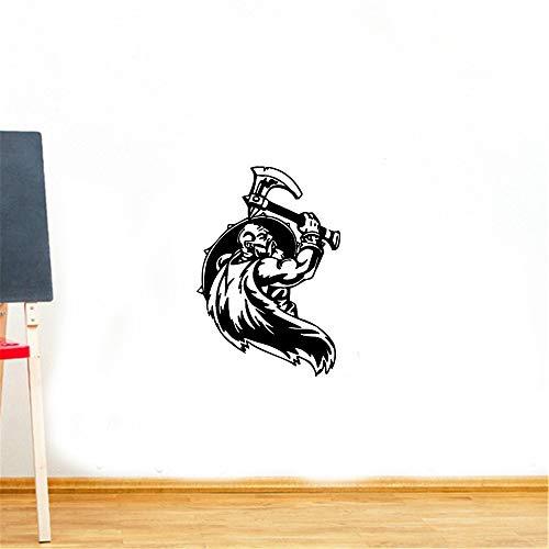 pegatina de pared etiqueta de la pared Guerrero vikingo guerrero medieval norteño
