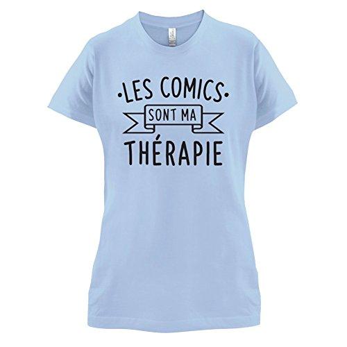 Les comics sont ma thérapie - Femme T-Shirt - 14 couleur Bleu Ciel